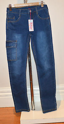 Tahlia Girls Jeans - LIGHT BLUE - SIZES -  10, 12 & 14  Years - NEW