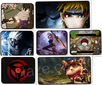 Naruto and League of legends Anti-Slip Mousepad Mousemat for PC Laptop