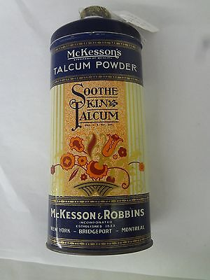 Vintage Advertising Talcum Powder Tin Mckesson's Soothe Skin Talc  S-1941