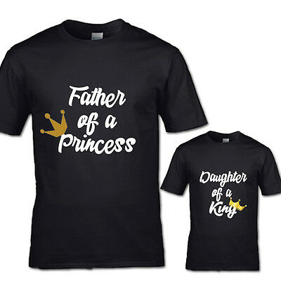 Father Of Princess And Daughter Of A King Tshirt King Queen Princess Prince