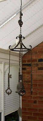 Wind Chime Large Loud Cast Iron 4 Keys Bell Hanging Metal Home Garden 72 cm New