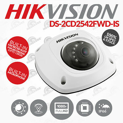 Hikvision DS-2CD2542FWD-IS 4MP WDR 2.8mm Lens + Audio & SD In/Outdoor IP PoE Cam