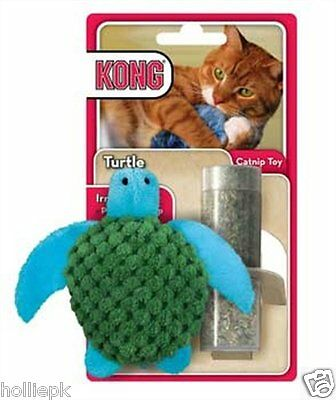 Kong Cat Kitten Toy With Refillable Premium Catnip Turtle Catnip Included