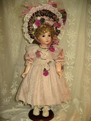 "Dress Pattern For 22"" French Doll Victorian Antique Style ~ Angelica"