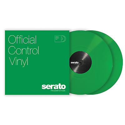2x Serato Performance Series Timecode Vinyl Record for DVS DJ (PAIR) - GREEN 12""