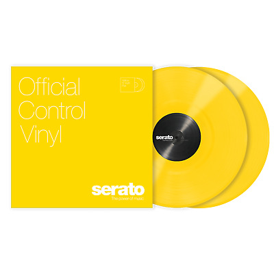 2x Serato Performance Series Timecode Vinyl Record for DVS DJ (PAIR)- YELLOW 12""