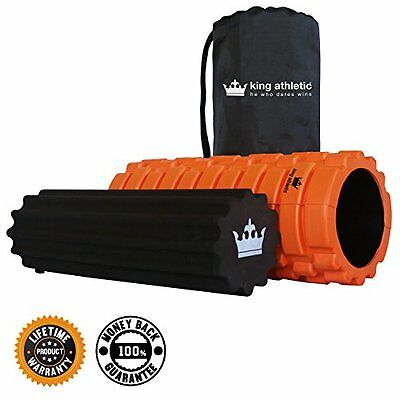 King Athletic Foam Roller Bundle with Soft Foam Roller and Carry Case Orange