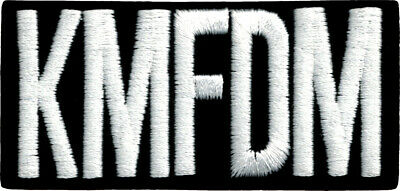 9420 KMFDM IRON ON PATCH German Rock Band Industrial Electronic Political Music