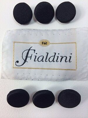 Fialdini Men's Black Tuxedo Jacket Set Of 6 Replacement Buttons