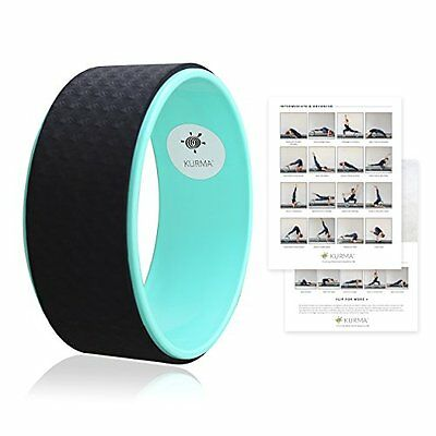 Yoga Wheel by Kurma - Professional Extra Strong Yoga Prop with Luxury Comfort to