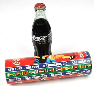 Coca-Cola Coke Orlando Glas Flasche + Spardose USA Bottle World Cup USA 94