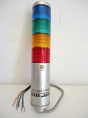 Patlite LME-02UFBW 24V AC/DC 3GD ARTIDOR Signal Tower, (Grn-Red-Yellow-Blue)