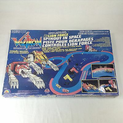 Voltron Lion Force Spinout in Space Slot Car Set Electric Racing Complete LJN