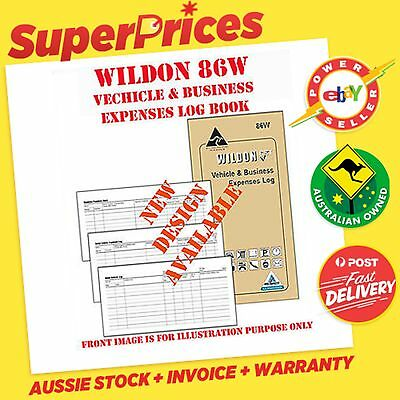 Wildon◉86W◉Pocket Size Vehicle & Business Expenses Log Diary◉ATO & TAX Compliant