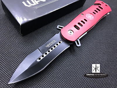"""Wartech USA 8"""" Fire Fighter Emergency Rescue Assisted Opening Folding Knife NIB"""