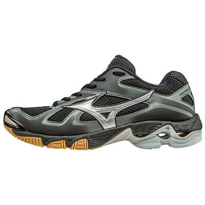 Mizuno Wave Bolt 5 Women's Volleyball Shoes - Black & Silver - 430204