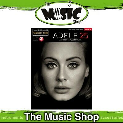 New Adele 25 Piano Play Along Music Book & OLA - Volume 32