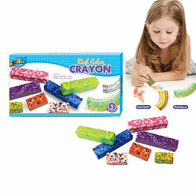 7 Multicolor Crayons Short&Long Colorful textured effect Impressionist creation