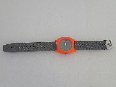 The Childrens Place Orange Gray Quartz Watch Nice Gift 154607 1403 Needs Battery