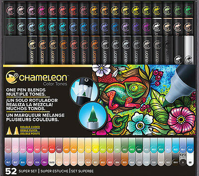 Chameleon Color Tone Markers 52 Complete Full Set Free Tweezers Extra Nibs +Gift