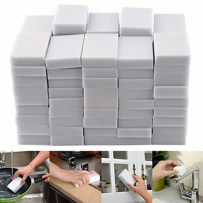 100PCS Magic Sponge Eraser Cleaning Melamine Multi-functional Foam Cleaner IT