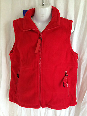 BNWT Boys or Girls Sz 16Y LW Reid Brand Red Sleeveless Polar Fleece School Vest