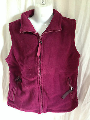 BNWT Boys/Girls Sz 4 LW Reid Brand Maroon Sleeveless Polar Fleece School Vest