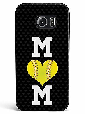 Softball Mom Hard Rubber Phone Case for iPhone,Galaxy, Note