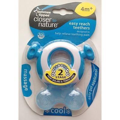 Tommee Tippee Closed to Nature Stage 2 Blue Easy Reach Teether 4m+ - 43645210