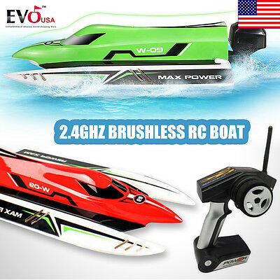 WL915 2.4G Brushless RC Boat  High Speed 45km/h  for Children With Battery
