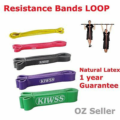 2.08m POWER Heavy Duty RESISTANCE BAND Pull Up Gym Yoga Rubber Mobility Fitness