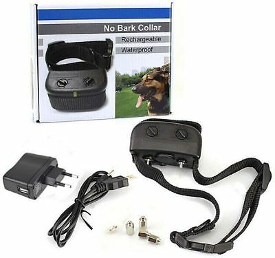 Waterproof Rechargeable Electric No Bark Control Training Collar for Mediam Dog