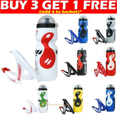 750ML Portable Drink Jug Water Bottle + Cage Holder Outdoor Bike Bicycle Cycling
