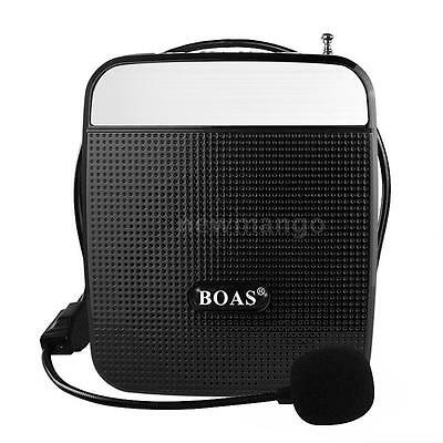 55W Portable Voice Amplifier for Teaching Guiding Speaker FM MP3 Microphone Blac