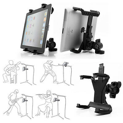 "360° Rotation Universal Music Microphone Mount Stand Holder For 7-11"" Tablet PC"