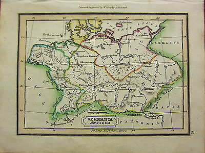 1832 Small Ancient Map ~ Germania Antiqua Istoevones Hermiones Vendili
