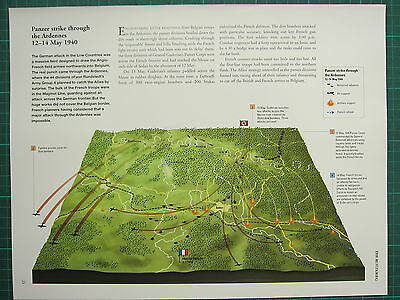 Ww2 Wwii Map ~ Battle Plan Panzer Strike Ardennes 12-14 May 1940 German Attack