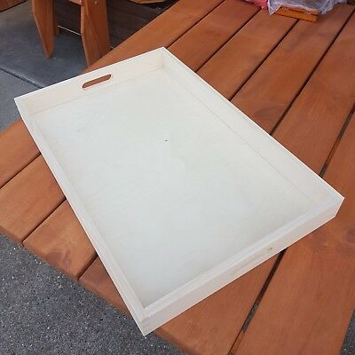 Plain Wood - Wooden Serving Very Extra Large Tray 60cmx40cmx 6cm Decoupage