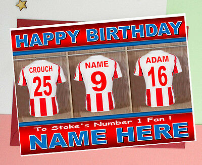 DERBY COUNTY FOOTBALL FAN DRESSING Room Personalised Birthday Card ANY NAME//AGE