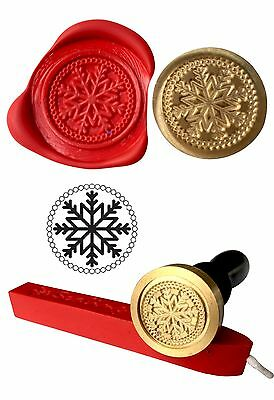 Wax Stamp Seal Wax Sealing Kit Christmas Winter SNOWFLAKE  Invite Craft 123