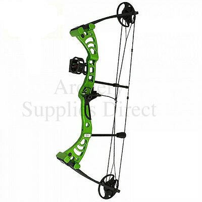 "Green Monster Compound Archery Bow 30-55Lbs 19-29"" PACKAGE With All you Need"