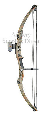ASD Lynx Adult Archery Compound Bow Set Kit 55lbs Camo Sight, Arrows Release Aid