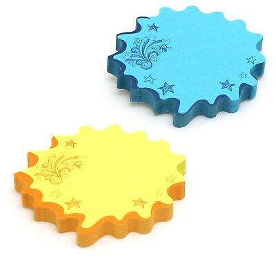 Redi Tag 22101 Blue And Yellow Thought Bubble Notes,No 22101,  Redi Tag,PK12