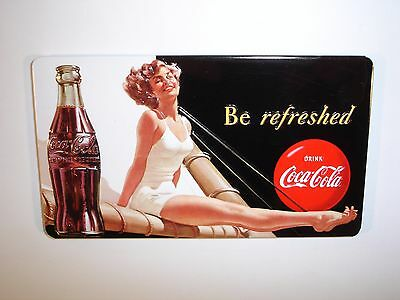 "Coca Cola Embossed ""Be Refreshed"" Magnet by Ande Rooney"