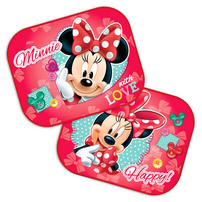 Baby Genuine Disney Minnie Mouse Car Sun Shade Roller Window Blind For Kids New