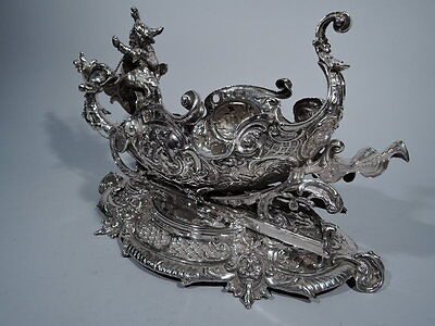 Old Fashioned Sleigh - Large Rococo Centerpiece - American Sterling Silver