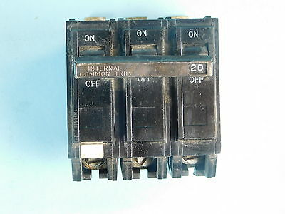 General Electric 3-Pole, 20 Amp Circuit Breaker G420