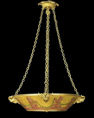 Antique Louis XV Style Painted Tole Metal and Gilt Bronze Chandelier • CAD $5,670.00