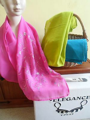 3 NEW Colourful Mixed Fibre Ethnic Scarves Ladies Scarf ~ Xmas Gift Idea  #31