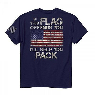 New IF THE FLAG OFFENDS YOU I'LL HELP YOU PACK T SHIRT